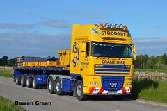 STODDART CRANE HIRE DAF XF 510 SUPER SPACE PL07 RLY (denzil31) Tags: euro 5 180 faun ballast atf muiroford rly tadano heavyhaulage pl07 dafxf superspace stgocat3 stoddartcranehire nooteboomtrailers heavycranedivision kelsalightbar