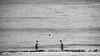 Tête à tête (lluiscn) Tags: bw beach boys monochrome ball mar football agua caps playa niños bn galiza cap futbol boyhood olas ones pontevedra aigua tête platja pelota pilota oceà sanxenxo xiquets chavales galícia sanjenjo atlàntic infància xavals baló marors