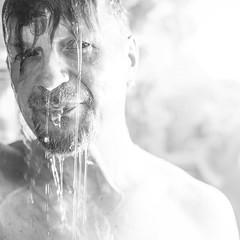 Wet (Jyrki Salmi) Tags: portrait bw wet shower 50mm nikon nikkor jyrki f12 d600 salmi