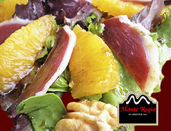Ensalada de frutas con jamn ibrico Monte Regio (Monte Regio) Tags: ham monte jamn regio ibrico
