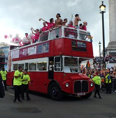 Go-Ahead London General - RML2318 - CUV318C - Pride London 2016 - #NOFILTER (Waterford_Man) Tags: goaheadlondongeneral routemaster opentop nofilter pridelondon2016 topless shirtless jeans boys lgbt lesbian gay bisexual trans people girl rml2318 cuv318c