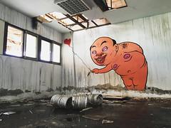 Pick up my heart (MrOGAY) Tags: life street streetart art love wall naked graffiti fineart taiwan lifestyle pug style canvas ugly taipei hiphop spraypaint tainan piece  badboy            kimpa  ogay mrogay misterogay streetarttaiwan