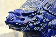 Chine du Nord 2016 - Beijing (Pkin) (philippebeenne) Tags: china blue statue beijing lion bleu nord chine pkin templeduciel