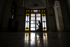namaj (AanupamM) Tags: india yellow canon religious pray culture mosque backlit masjid namaj