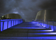 To The Heavens (A Great Capture) Tags: life light urban toronto ontario canada reflection up rio architecture night clouds stairs silver square de grey lights for la photographer montral quebec stadium montreal space gray steps canadian qubec planetarium olympic railing pour et espace alcan vie ramirez tinto on agc cardin ald plantarium jamesmitchell associs ash2276 adjm davidbarottboulva spaceforlife chaboillez plantariumriotintoalcandemontral wwwagreatcapturecom agreatcapture mobilejay