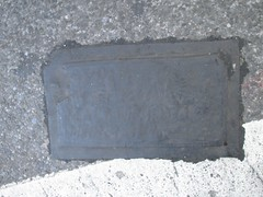 Fresh New Toynbee Tile Under Tar 2016 NYC 1232 (Brechtbug) Tags: street new york 2001 city nyc white streets west up june st by tile dead idea bars cross traffic walk manhattan under pedestrian pop fresh severino midtown made tiles ave planet ready commuter jupiter kubricks patch avenue toynbee named verna 6th tar crumbling 35th sevy possibly reclusive 2016 resurrect philadelphian 06142016