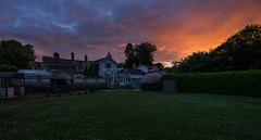 Homestead | Sunset (James_Beard) Tags: sunset grass garden fuji dusk lawn wideangle goldenskies fujixe2 fuji1024mm