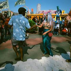 2016 Coney Island Mermaid Parade (slightheadache) Tags: newyorkcity party newyork color sexy mamiya film beautiful brooklyn fun coneyisland pirates slidefilm parade velvia squareformat mermaids boardwalk filmcamera mermaid coney mermaidparade burlesque lightroom velvia50 colorfilm 2106 mamiya6mf thecolorhouse