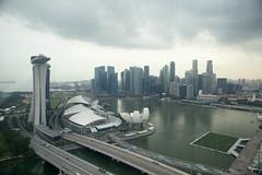 Marina Bay, in al its foreboding glory (mrstopadoodledoo) Tags: singapore singaporeflyer