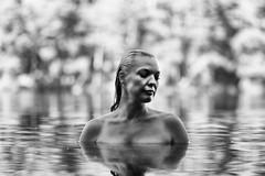 The lake var 2 (BR_Jac) Tags: portrait blackandwhite woman lake art photoshop nikon bath blonde d800 lightroom sigma2470