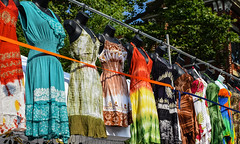 Dresses for Sale (tim.perdue) Tags: comfest 2016 community festival columbus ohio goodale park outdoor summer party short north victorian village downtown urban city dresses for sale multicolored colorful tiedye