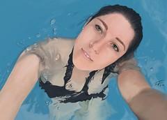 laigua_2_hq (esfenodon) Tags: esfenodon krita swimingpool girl swimsuit