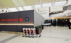 Air Canada branding (A. Wee) Tags: toronto canada airport counter advertisement brand pearson yyz checkin businessclass aircanada
