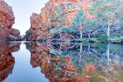 Ellery Creek Big Hole NT (Louise Denton) Tags: westmacdonnell redcentre nt alicesprings northernterritory australua outback swimming water reflection escarpment red ghostgum ellerycreek bighole westmcdonnell ranges