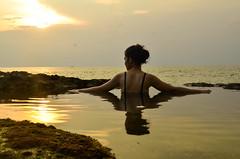 Natural pool in Tegalwangi Beach (tian_allagans) Tags: bali beach tegalwangi sunset pool nature landscape