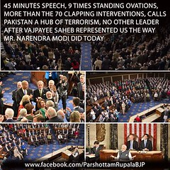 A joint session of the US Congress by Prime Minister Shri Narendra Modi, while Addressing. (ronaknigam) Tags: party for election profile join leaders vote speech janta membership bjp gujrat 2018 janata bhartiya bharatiya purushottam rupala parshottam