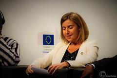 Federica Mogherini, High Representative of the European Union for Foreign Affairs and Security Policy and Vice-President of the European Commission - EDD 2016 (4) (Durickas) Tags: edd edd2016 europeandevelopmentdays brussels tourtaxis federicamogherini highrepresentative europeanunionforforeignaffairsandsecuritypolicy vicepresidentoftheeuropeancommission mogherini