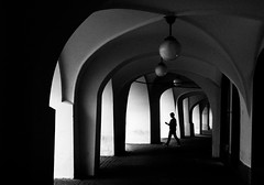 textwalker (- Georg K -) Tags: street light shadow urban silhouette contrast dark high walk streetphotography tunnel human element humaningeometry textwalker