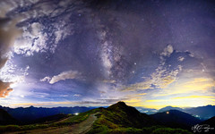 _ (M.K. Design) Tags: longexposure mountains star nikon taiwan panoramic galaxy nightview    ultrawide hualien hdr    starrynight milkyway   nantou  renai  2016      nightimage hehuanshan     mthehuan   mkdesign  tarokogorgenationalpark d800e afs1424mm28g mk