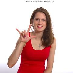 Kathryn Jordan (Dana Brady) Tags: comfortable model artistic unique fresh etobicoke youthful signlanguage reddress ily homestudio pentaxk3 daveanddanaphotography