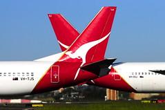 Qantas B737-400 VH-TJS B767-300 VH-OGJ (altinomh) Tags: plane airport aviation sydney australia nsw newsouthwales boeing airlines syd qantas spotting 737 sydneyairport qf b737 yssy