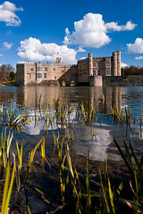 Leeds Castle (Darby Sawchuk) Tags: uk greatbritain travel vacation england lake holiday reflection building tower castle english heritage history tourism water grass architecture reeds kent pond europe european day unitedkingdom fort britain culture bluesky landmark medieval tudor architectural historic british daytime moat fortress leedscastle henryviii touristattraction parapet rampart 13thcentury crenellation catherineofaragon riverlen kingedwardi