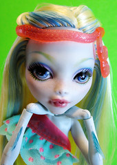 Swim Class Lagoona (nonaptime) Tags: ooak swimclass repaint customdoll scaris lagoonablue monsterhigh deucegorgon