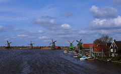 Windmills in Zaanse Schans, North Holland, the Netherlands (Luke,Ma) Tags: blue sky panorama house holland netherlands windmill dutch amsterdam digital de landscape four lumix power g traditional north nederland kingdom windmills olympus x m panasonic f micro 28 asph f28  molen zaanse schans 43 omd noordholland thirds zaandam noord molens gx ois 1235  vario zaandijk  m43        koogzaandijk em5 flickraward 1235mm flickrtravelaward 1235mmf28 hhs12035 hs12035