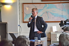 Cowes Harbour Master Capt. Stuart McIntosh delivers a presentation of the Annual Report 2012-2013 (cowescouk) Tags: public club island sailing harbour report meeting annual commission cowes
