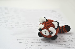 red panda amigurumi (mohu mohu) Tags: cute toy stuffed soft handmade crafts crochet plush redpanda kawaii amigurumi mohu mohustore