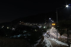One car went by (ryanhsuh31) Tags: street longexposure night korea seoul southkorea