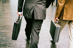 (Matt Obrey) Tags: street film birmingham walk streetphotography double suit briefcase birminghamstreet