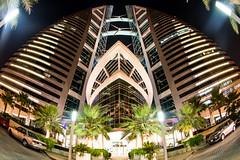 WTC - Fisheyed! (siraf72) Tags: bahrain fisheye wtc manama seef worldtradecentre club16