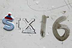 616, Shoreditch (8333696) Tags: street urban streetart brick london art up st wall tin one graffiti sticker mural paint artist paste can spray lane shoreditch painter spraypaint graff aerosol six 616 ldn sixonesix 6i6