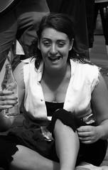 performers on the Mile 078 (byronv2) Tags: street portrait blackandwhite bw woman girl monochrome scotland blackwhite breasts edinburgh boobs candid fringe royalmile cleavage performer oldtown downblouse edinburghfestivalfringe fringe2013