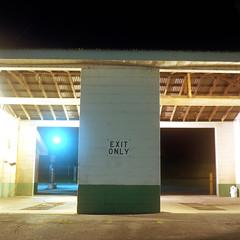 (Josh Sinn) Tags: longexposure color 120 6x6 film sign night mediumformat dark kodak pennsylvania tripod carwash pa late 100 exitonly camphill yashicamat124g ektar cablerelease joshsinn joshuasinn