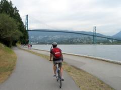 Biking Stanley Park Seawall (Sean_Marshall) Tags: park bridge vancouver britishcolumbia seawall stanleypark lionsgate