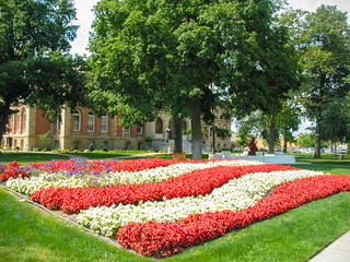 "Elkhart County Courthouse, Goshen, IN  ""Flowering Flag"""