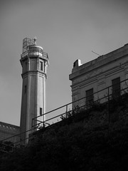 Alcatraz (wwarby) Tags: alcatraz america california sanfrancisco us usa abroad architecture blackandwhite building family holiday holiday2013usa outdoors prison sky touristattraction tower vacation watchtower westcoast