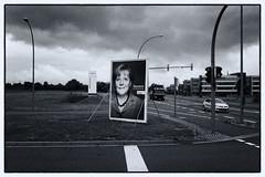Angela (duesentrieb) Tags: blackandwhite bw monochrome germany deutschland europa europe cityscape schwarzweiss plakat wolfsburg niedersachsen lowersaxony angelamerkel wahlplakat tumblr