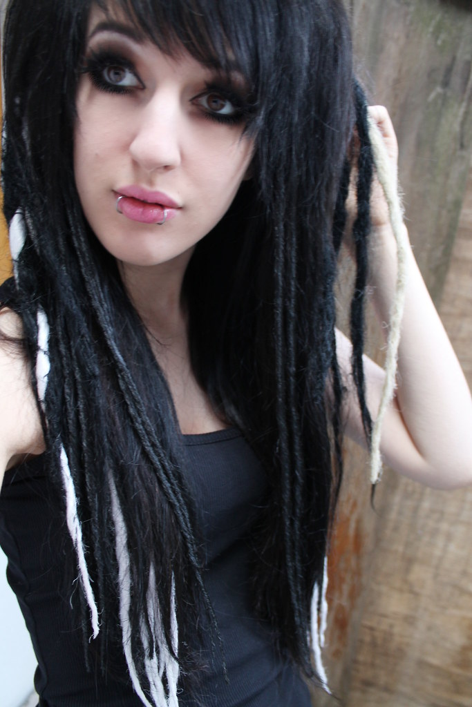 Emo girl blonde dreadlocks Naked
