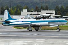 N416X (sabian404) Tags: county field cn plane star airport king international chase shooting boeing canadair t33 369 bfi kbfi n416x