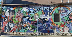 Breaking the Cycle Mural (elnina999) Tags: life street old city urban color art wall youth sanantonio creativity outdoors graffiti star saturated mural colorful paint texas image artistic drawing expression vibrant background grunge culture vivid scene spray cycle vandalism rebellion multicolored shape ghetto breaking