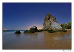 Torre del Loro ( Marco Antonio Soler ) Tags: ocean sea espaa beach night del noche mar spain nikon torre huelva playa andalucia atlantic iso julio nocturna jpg 13 hdr loro mazagon 2013 d80 blinkagain vision:beach=062