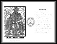 Chinna MARUDHU - King of SIVAGANGAI SEEMAI - Great Warrior Prince - Freedom Fighter of Tamil Nadu,India (Artist ANIKARTICK,Chennai(T.Subbulapuram VASU)) Tags: art sketch artist drawings autograph gandhi animation cele
