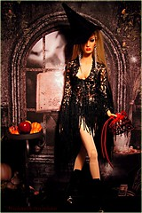 Happy Halloween from Macrame (Michaela Unbehau Photography) Tags: halloween fashion ball photography doll bjd clone exclusive royalty michaela macrame voltaire 2012 jointed sybarite superdoll 2013 superfrock unbehau