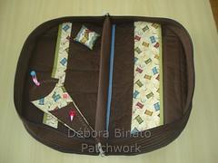 Bolsa de Costura (parte interna) (Débora Binato Patchwork) Tags: costura alfineteiro portatesouras bolsadecostura
