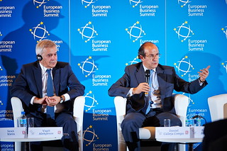 Vagit Alekperov, President of LUKOIL and Daniel Calleja Crespo, Director-General for Enterprise and Industry, European Commission