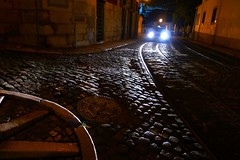 contraluz (*F~) Tags: light urban luz portugal nature car night contraluz herbs pavement stones lisboa nothing nada calçada basalto