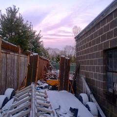 IMG_20131210_162835 (A Million Shards of Light) Tags: wood pink winter sunset snow brick pine clouds twilight peace purple dusk connecticut grace shelter westport